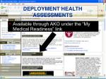 deployment health assessments