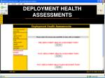 deployment health assessments24