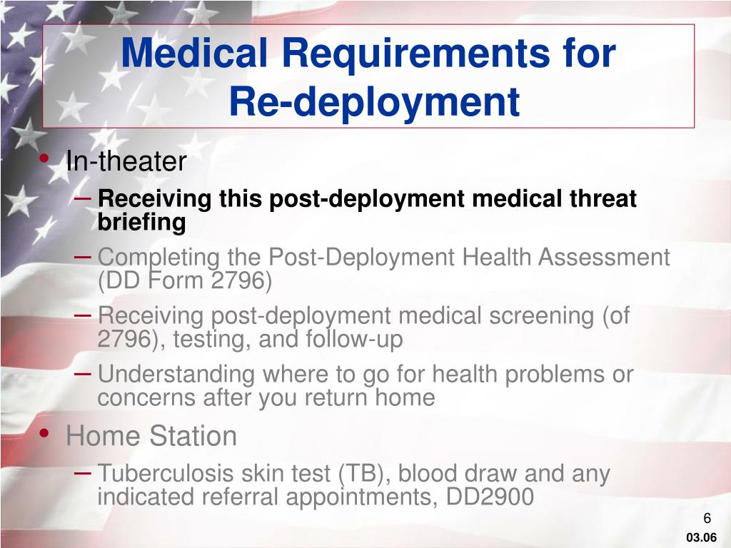 Medical Requirements for