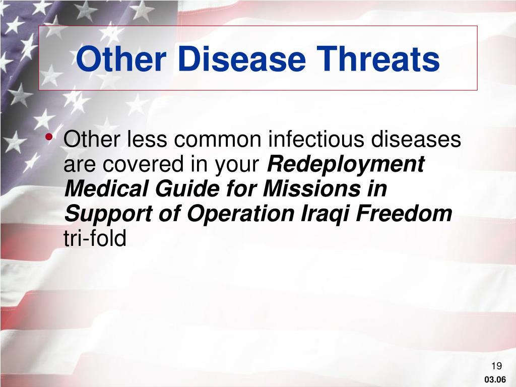 Other Disease Threats