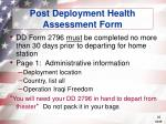 post deployment health assessment form