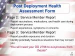 post deployment health assessment form28