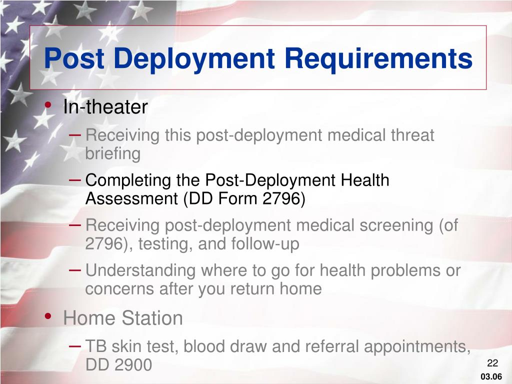 Post Deployment Requirements