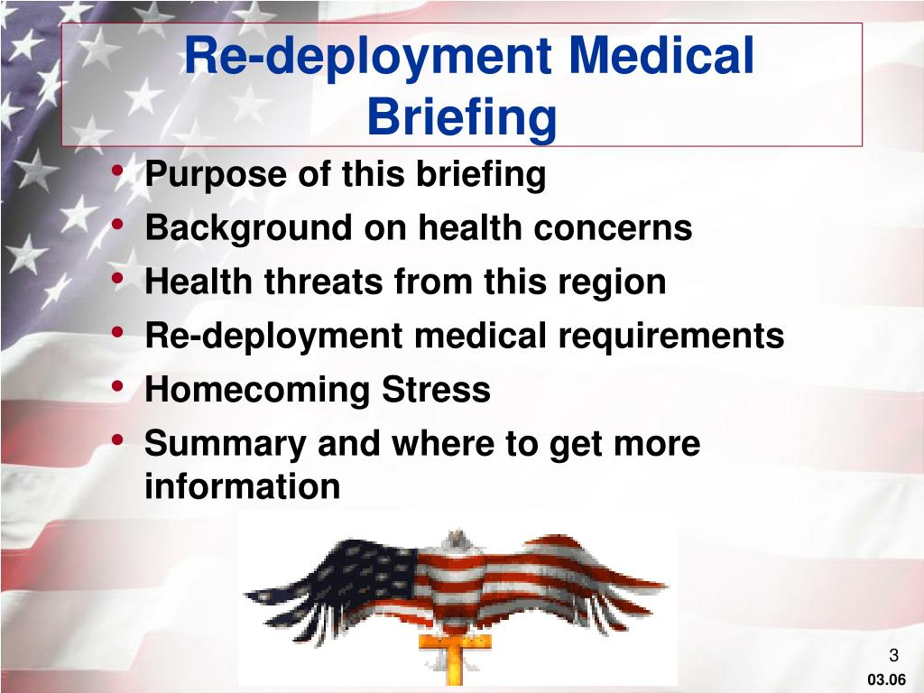 Re-deployment Medical Briefing