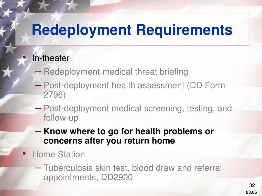 Redeployment Requirements