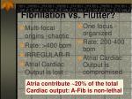 fibrillation vs flutter