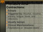 premature atrial contractions