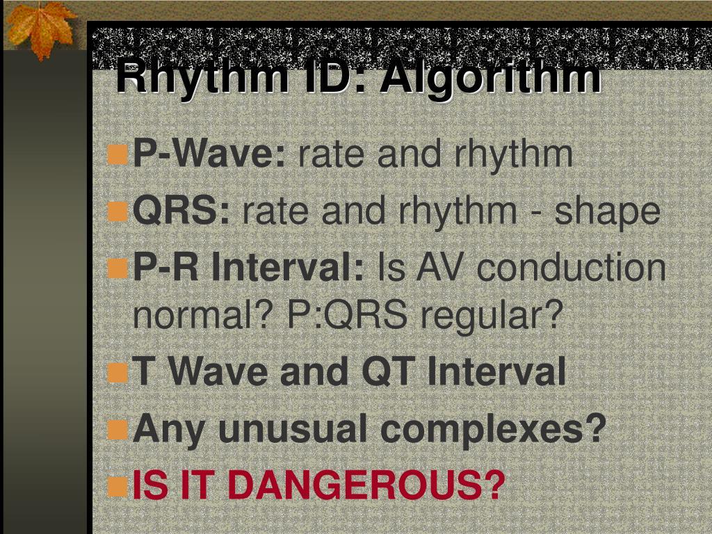 Rhythm ID: Algorithm