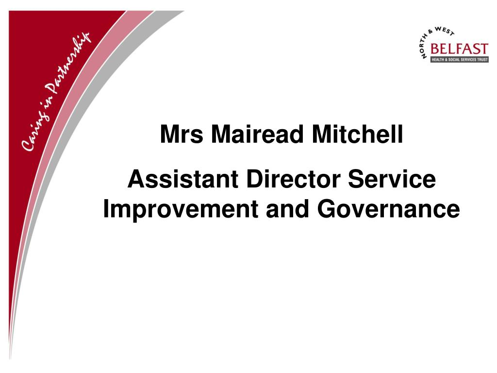 Mrs Mairead Mitchell