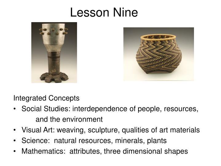 Lesson Nine