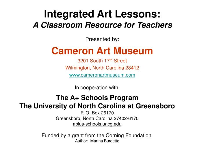 Integrated Art Lessons: