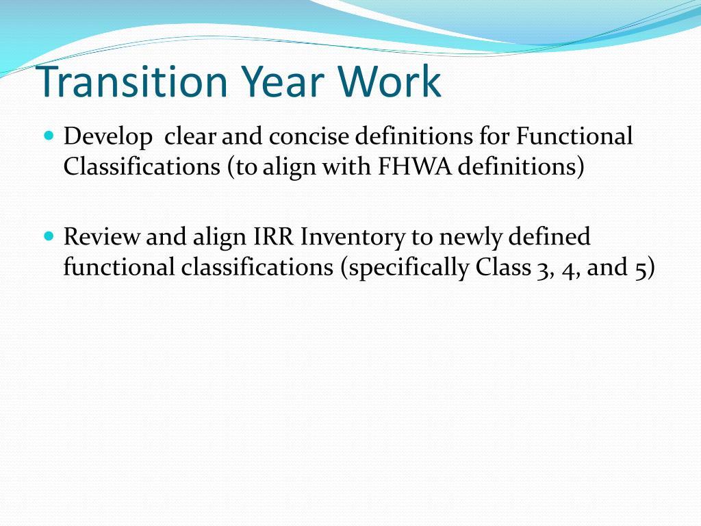 Transition Year Work