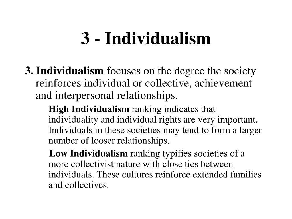 3 - Individualism