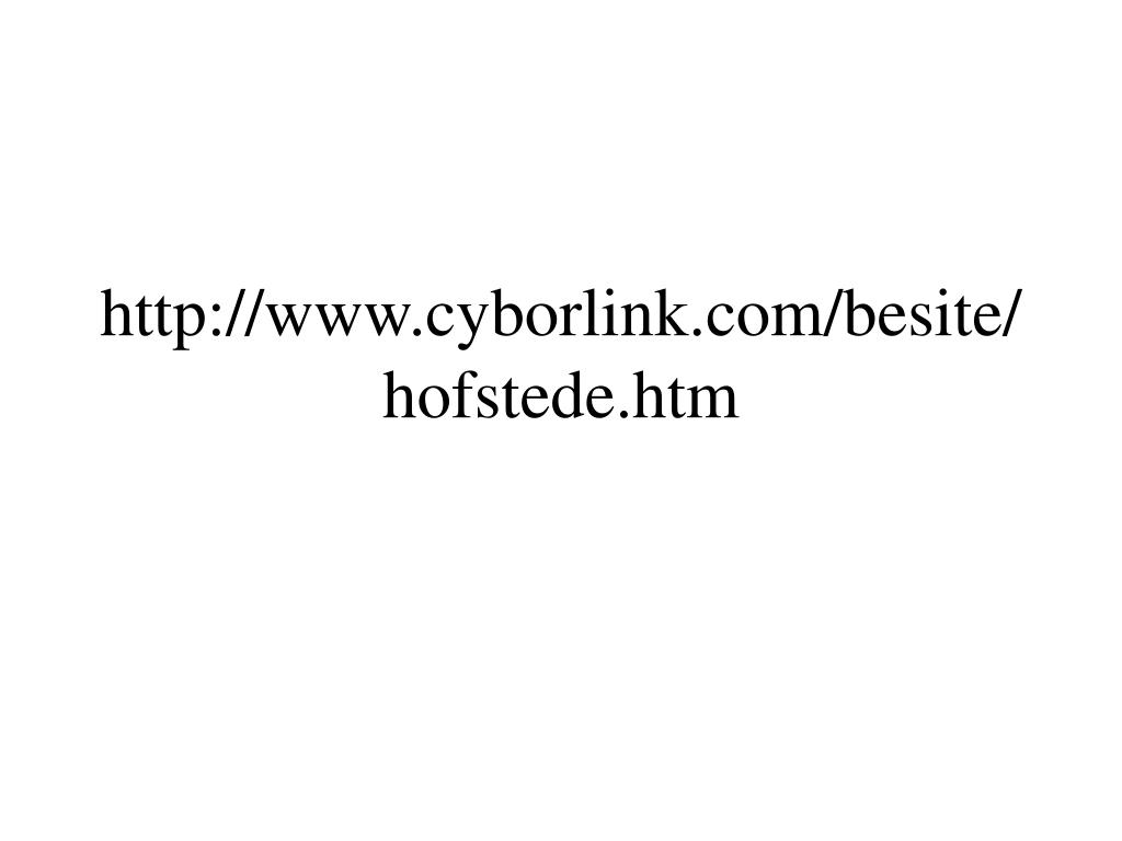 http://www.cyborlink.com/besite/hofstede.htm