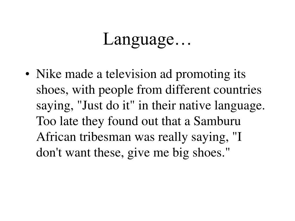 Language…