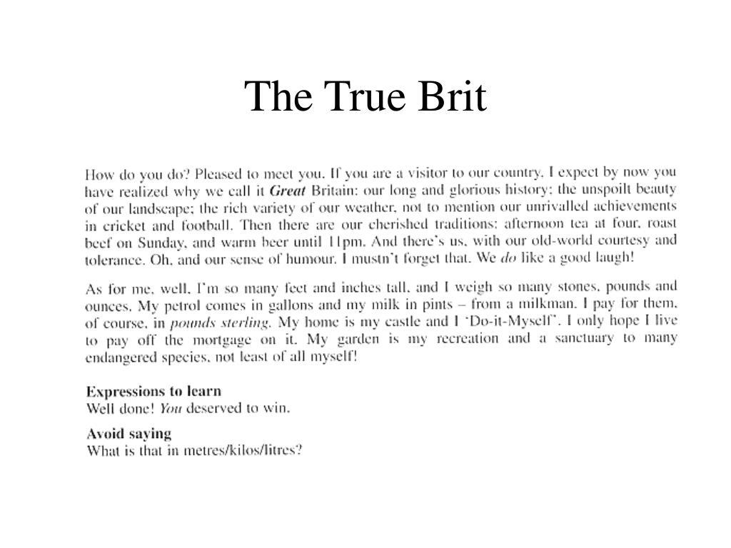 The True Brit