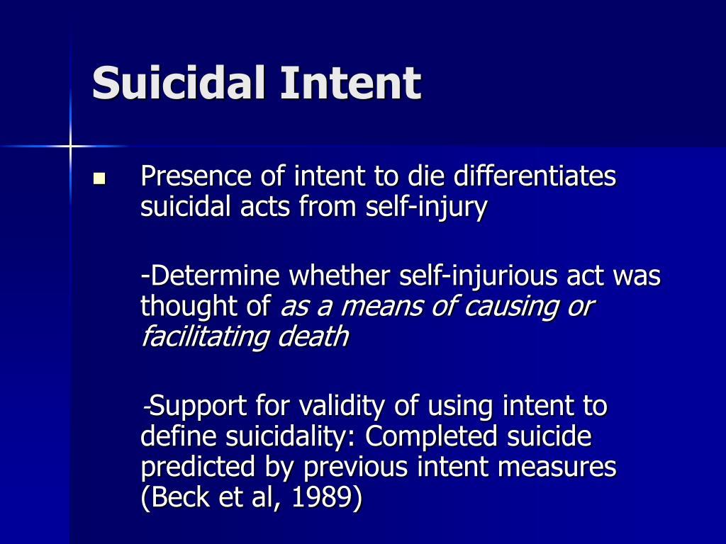 Suicidal Intent