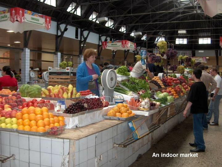 An indoor market