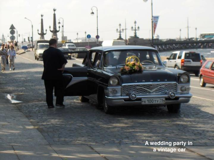 A wedding party in