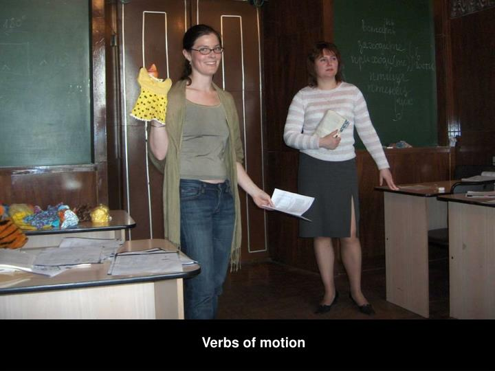 Verbs of motion