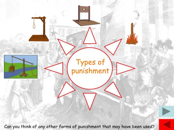 Types of punishment
