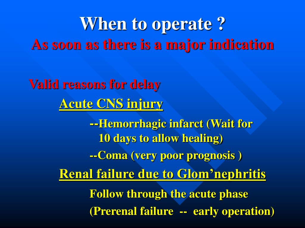 When to operate ?
