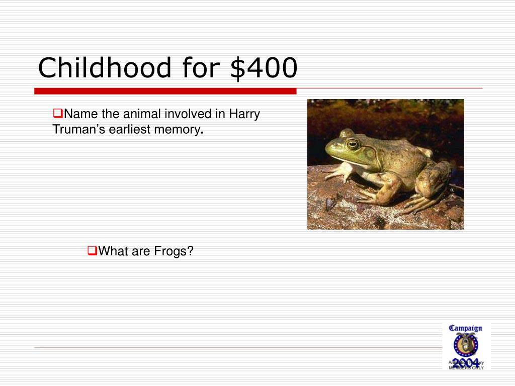 Childhood for $400