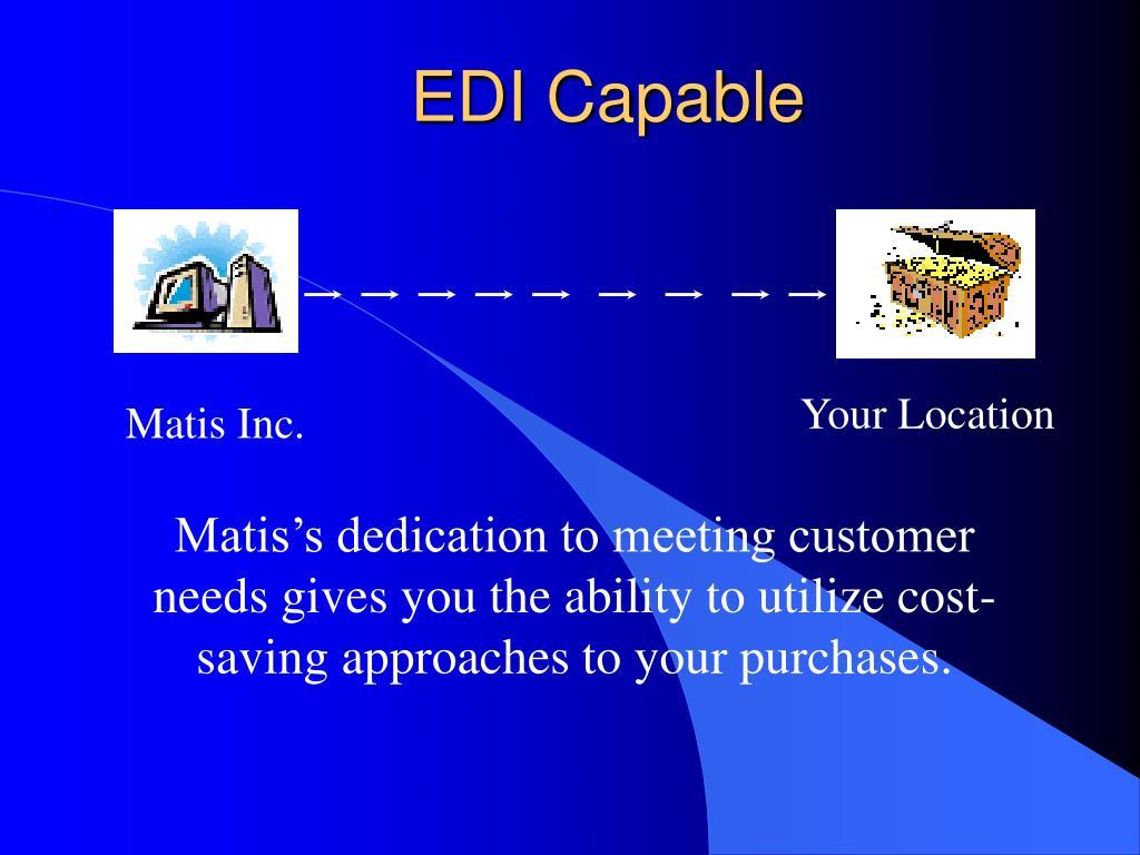 EDI Capable
