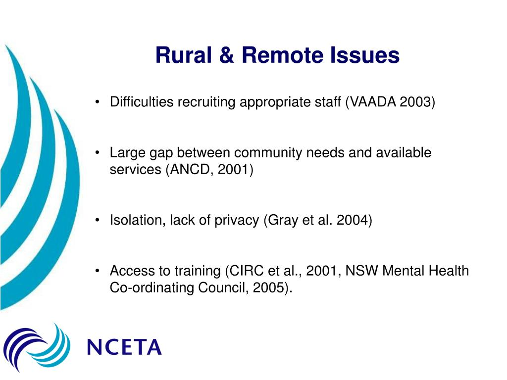 Rural & Remote Issues