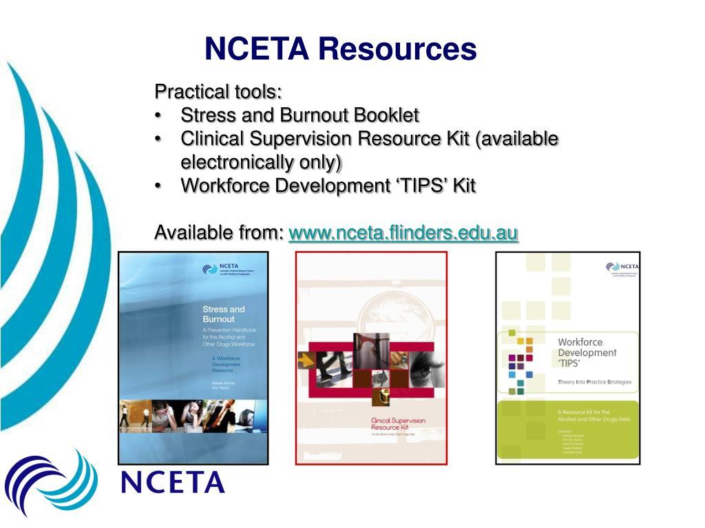 NCETA Resources