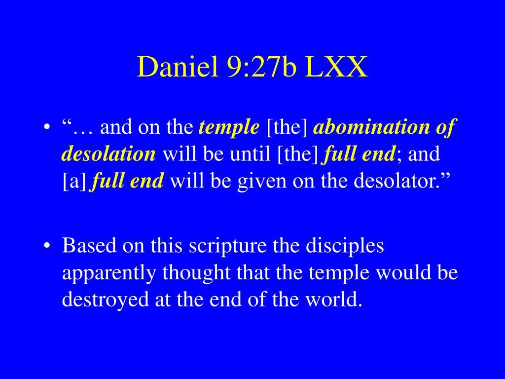 Daniel 9:27b LXX