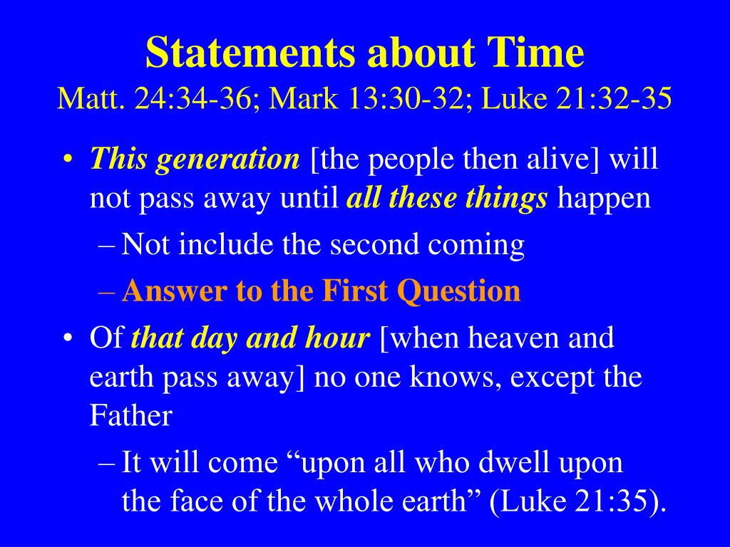 Statements about Time