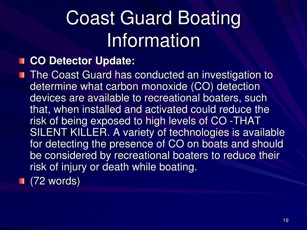 Coast Guard Boating Information