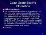 coast guard boating information