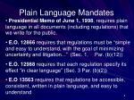 plain language mandates