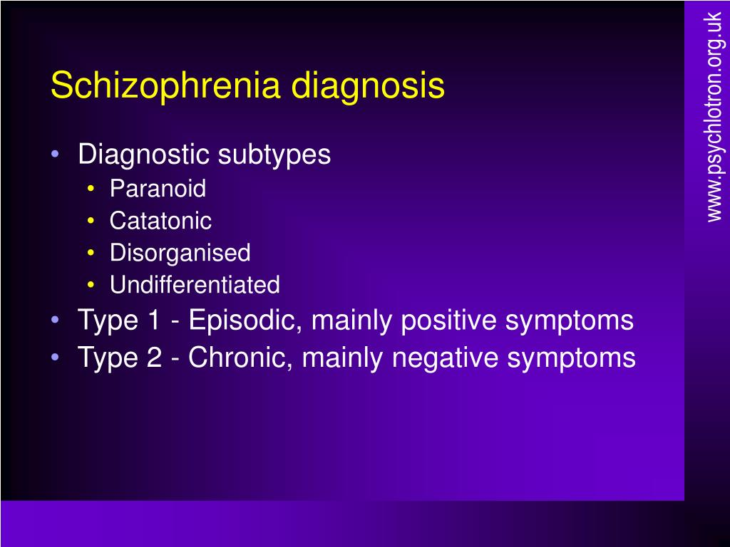schizophrenia presentation However, the impact of schizophrenia tends to be highest in oceania, the middle east, and east asia, while the nations of australia, japan, the united states, and most of europe typically have low impact.