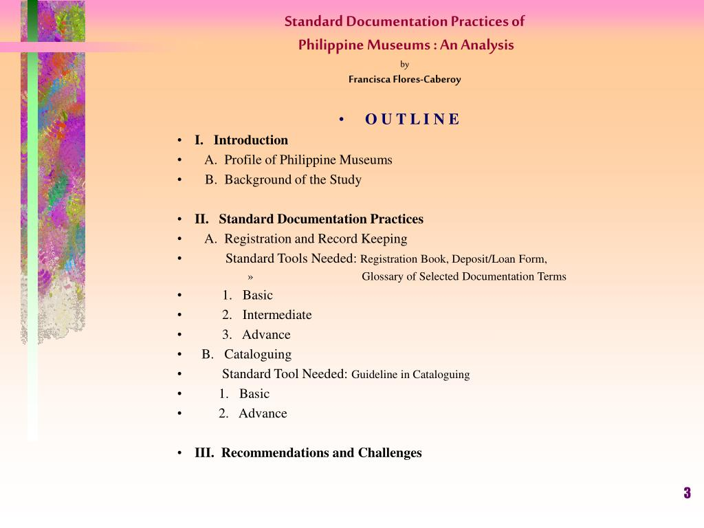 Standard Documentation Practices of