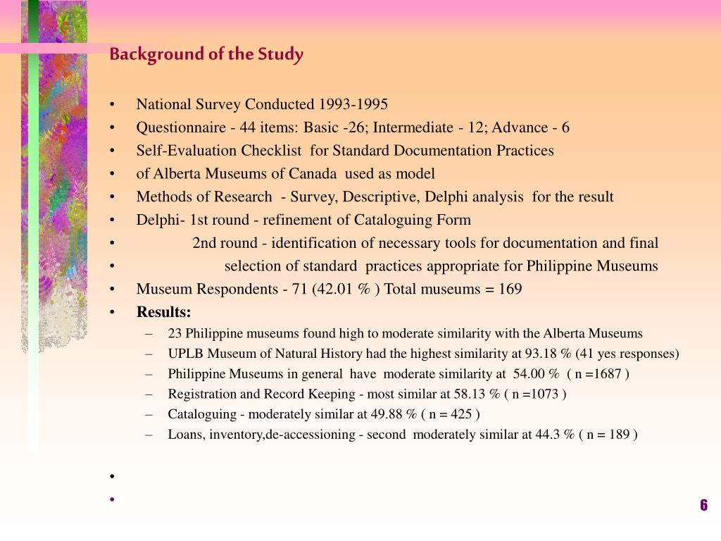 Background of the Study
