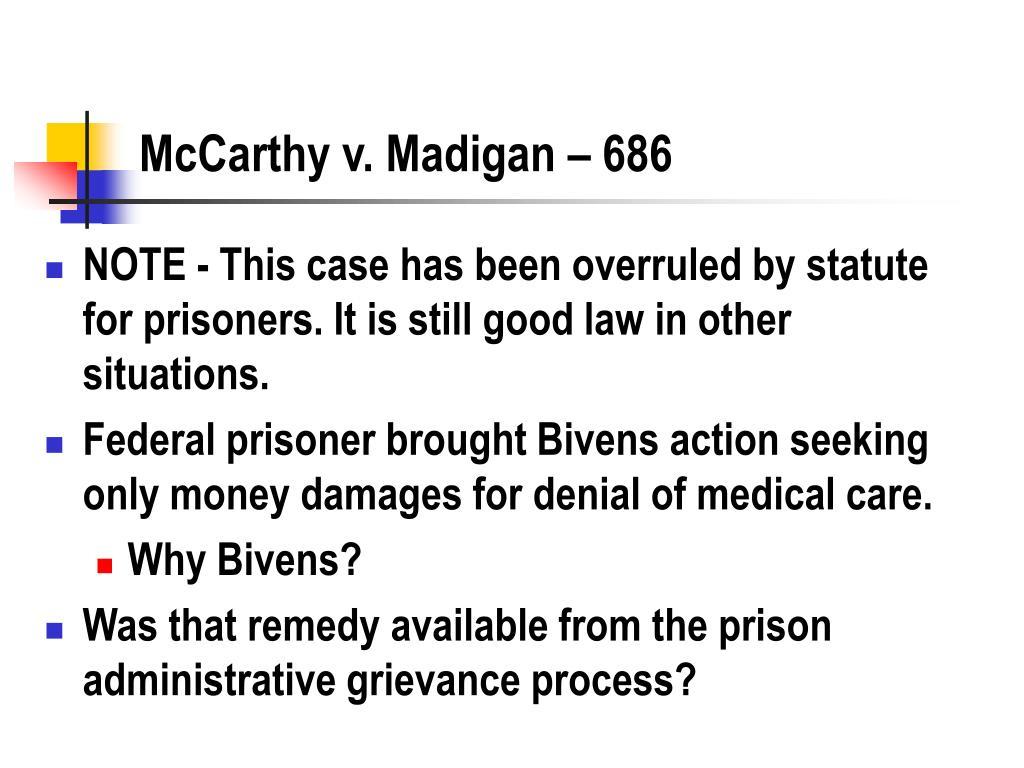 McCarthy v. Madigan – 686
