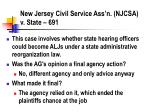 new jersey civil service ass n njcsa v state 691