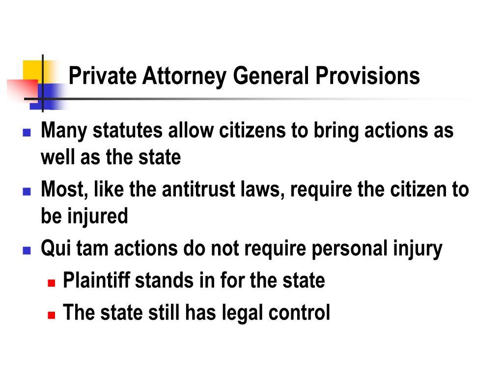 Private Attorney General Provisions
