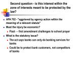 second question is this interest within the zone of interests meant to be protected by the law