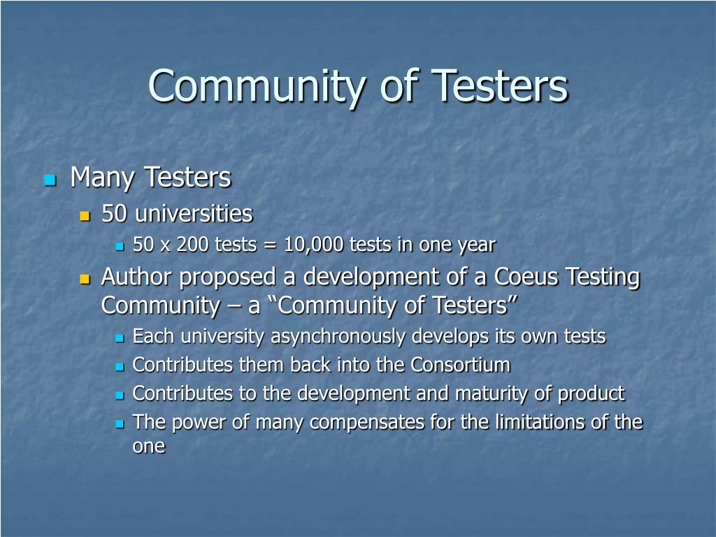 Community of Testers