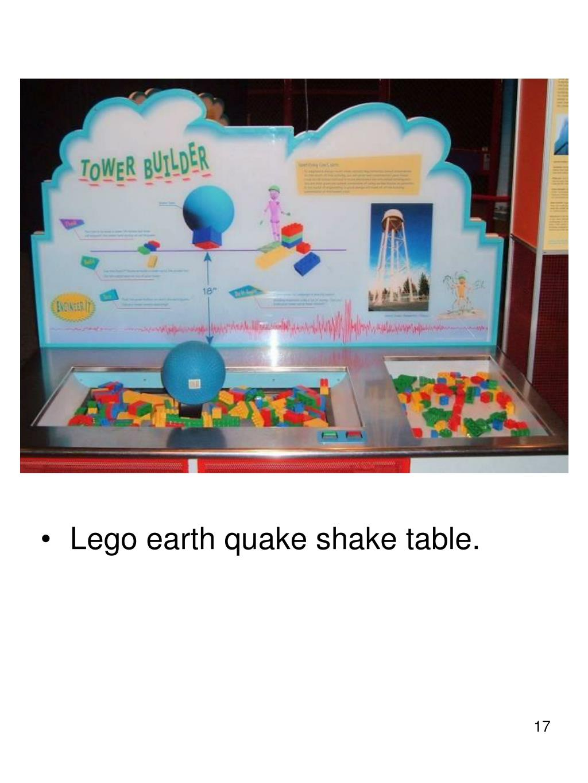 Lego earth quake shake table.