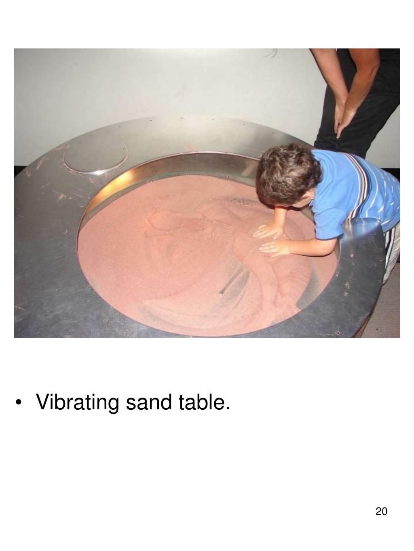 Vibrating sand table.