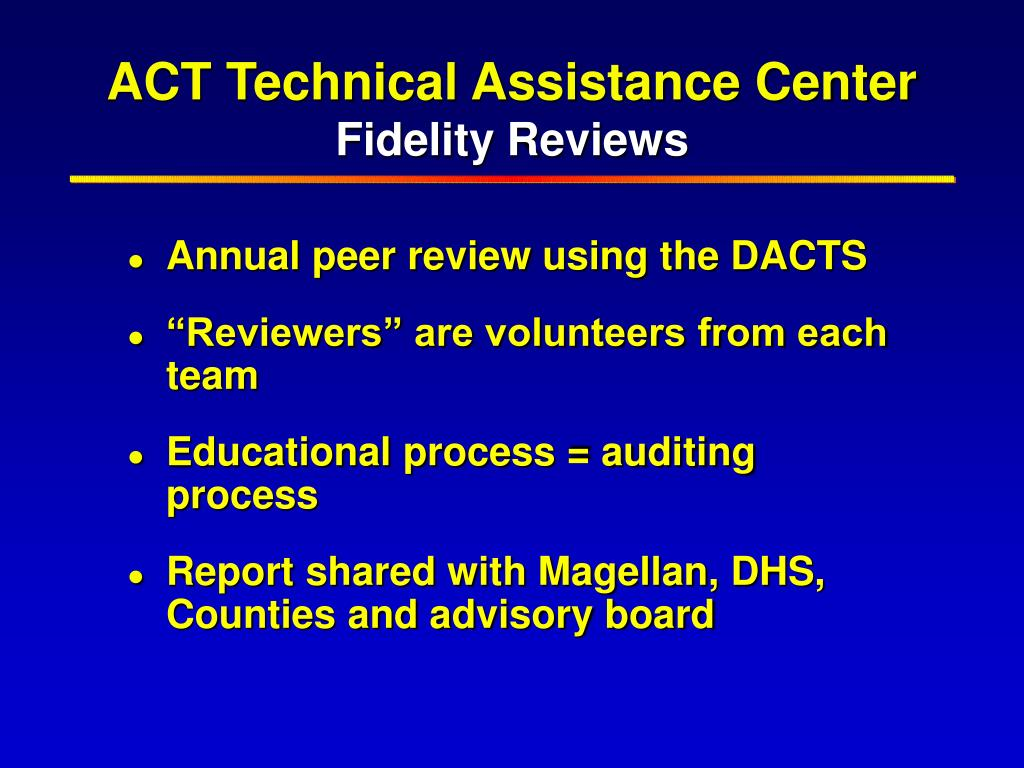 ACT Technical Assistance Center