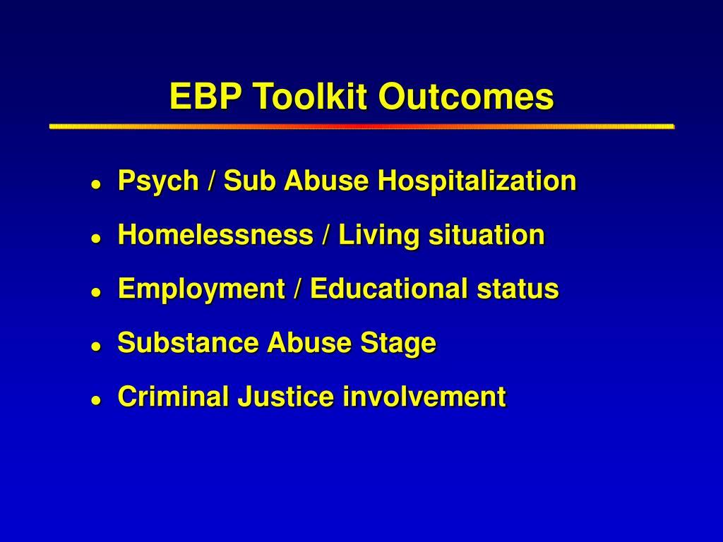 EBP Toolkit Outcomes