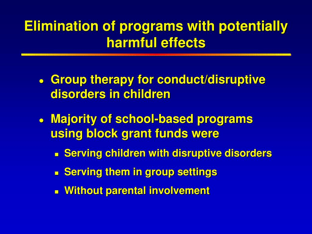 Elimination of programs with potentially harmful effects