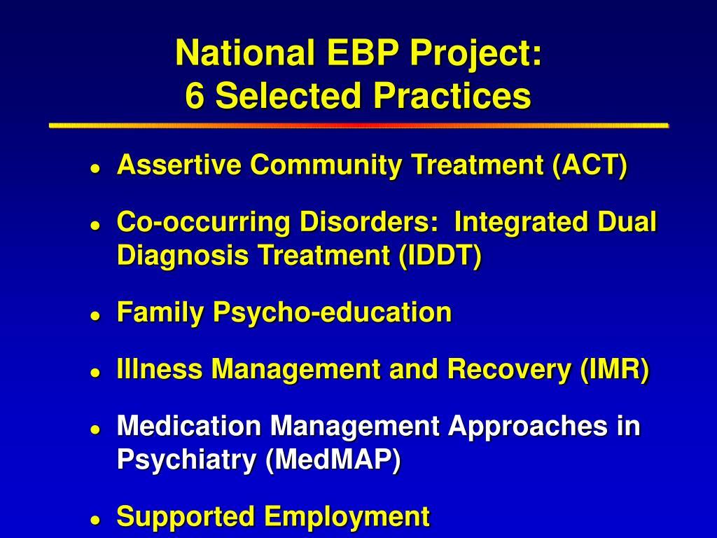 National EBP Project: