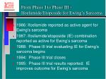 from phase i to phase iii ifosfamide etoposide for ewing s sarcoma